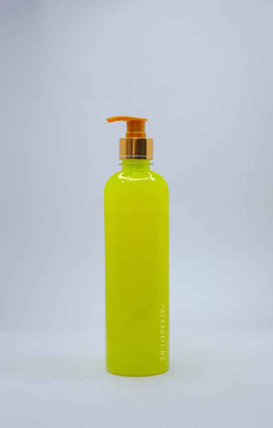 500ml bv with metallic pump cap for soap and cosmetics