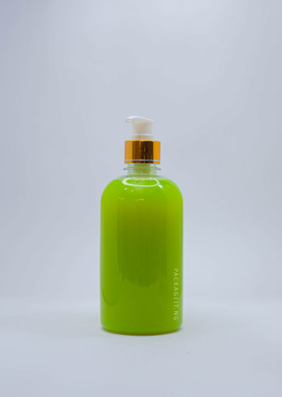 500ml jasmine with metallic pump cap for soap and cosmetics