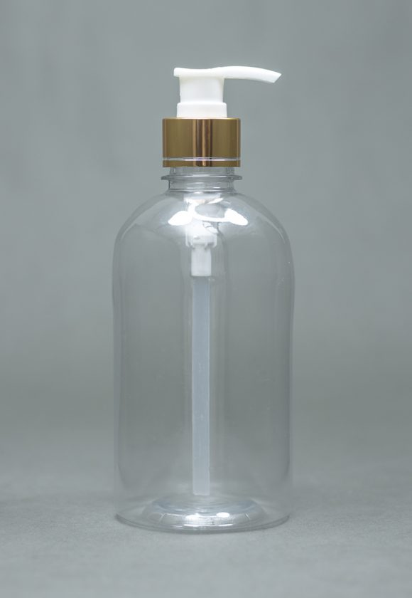 500ml Plastic with metal pump cap