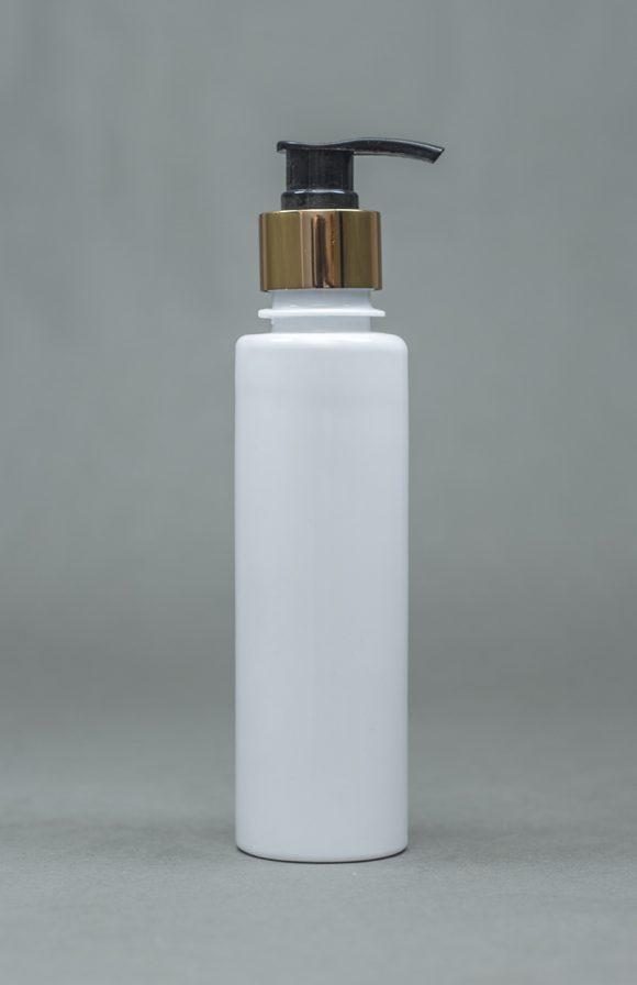 200ml Opaque Plastic Bottle EDGY With Metallic Pump Cap