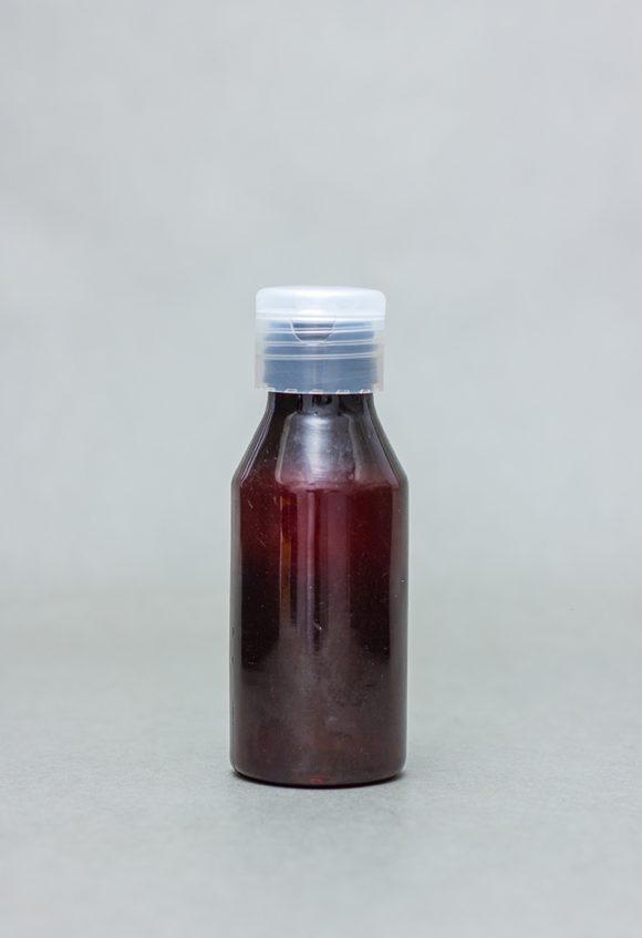 100ml Amber Plastic Bottle With Flip Cap