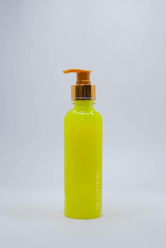 250ml bv bottle with metallic pump