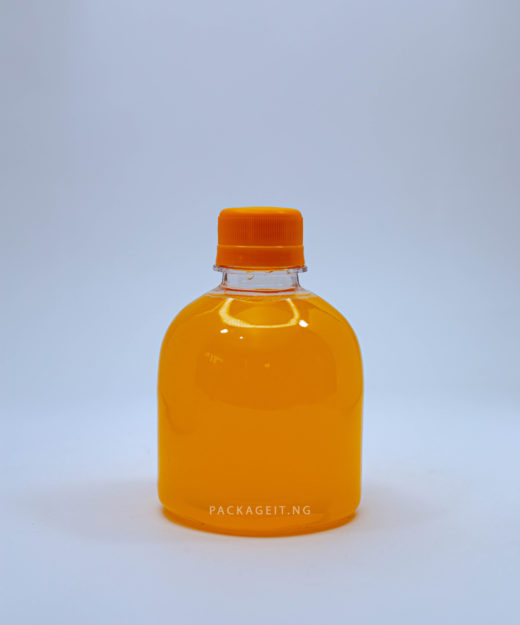 250ml transparent Jasmine with screw cap for juice and beverage