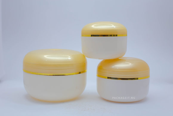 Cream jar With Dome Lids