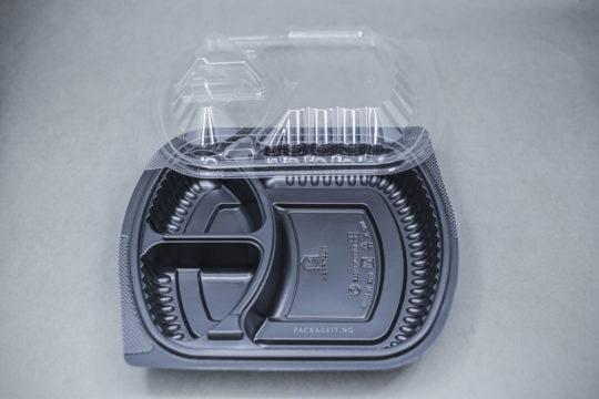 RECTANGULAR 3 COMPARTMENT FOOD PACK