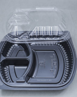 RECTANGULAR 3 COMPARTMENT FOOD PACK