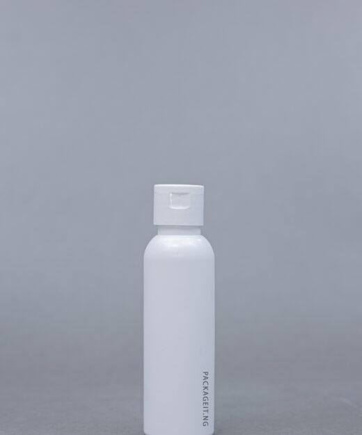 125 ml boston bottle with flip cap