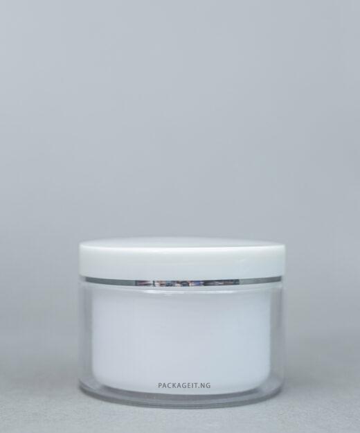 200 ml crystal clear jar with inner