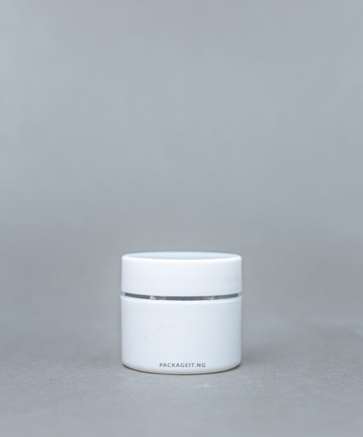 50 ml opaque jar with silver lining